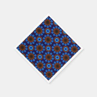 pricker den retro blåttbruntet för pappra papper servett