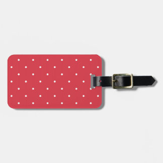 Pricker den röda polkaen för femtiotalstilvallmon bagagebricka