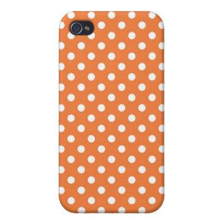 Pricker den rosa medelpolkaen för korall det iPhone 4 cover