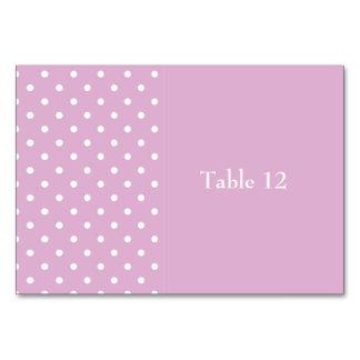 Pricker den rosa polkaen för angoraen bordsnummer