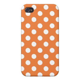 Pricker den rosa polkaen för korall det Iphone 4 iPhone 4 Skal