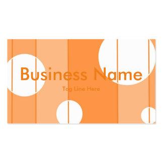 Pricker och görar randig i orange set av standard visitkort