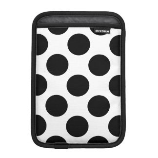 Pricker seamless mönstersvart + din baksida iPad mini sleeve