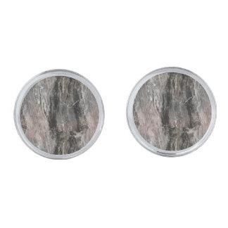 Prickig grått tonar marmorstenen silverpläterade manschetterknappar