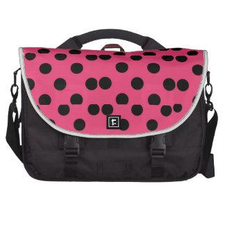 Prickig messenger bag för Polka Laptop Väskor