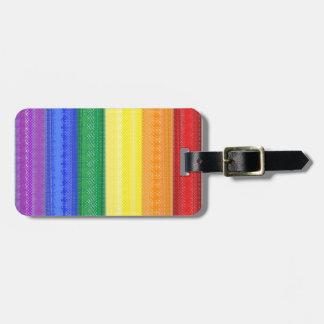 prickig regnbågebagagemärkre bagagebricka