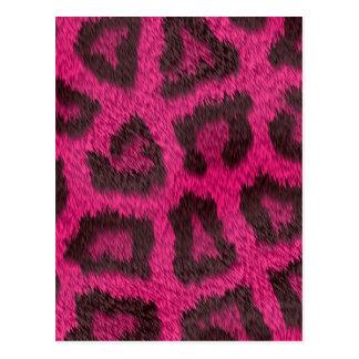 Prickig rosa djur päls vykort