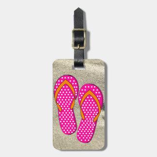 Prickig rosa flinflip flops bagagebricka