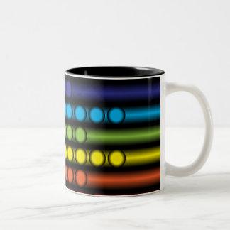 Prickig Spectrum Två-Tonad Mugg