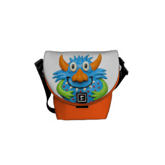 Prickigt gult monster messenger bag