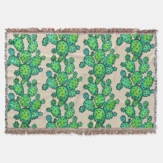 Prickly kaktus för ursnygg vattenfärg mysfilt