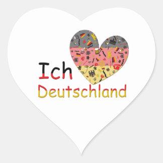 Pride av Tysklandet Hjärtformat Klistermärke