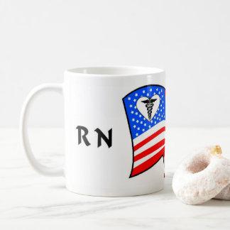 Pride för sjuksköterskaRN USA Kaffemugg