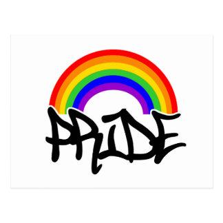 Pride med regnbågen vykort