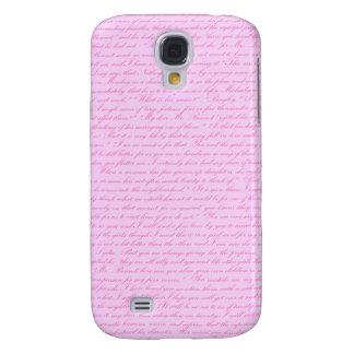 Pride och fördom - rosa galaxy s4 fodral