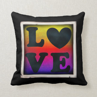 Pride & service för regnbågekärlekhjärta LGBT Kudde
