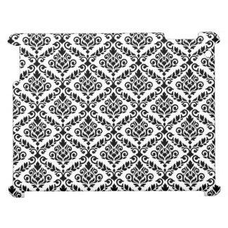 Prima damastast horisontalPtn svart på vit iPad Skal