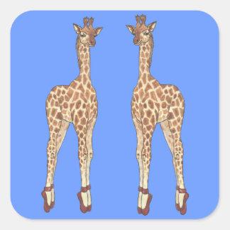 Prima Donna giraff Fyrkantigt Klistermärke