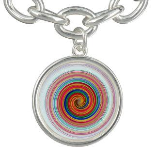Primär färg virvlar runt berlockarmband
