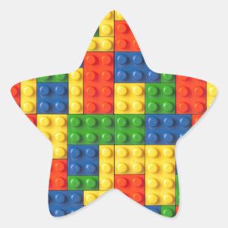 Primära kvarter stjärnformat klistermärke