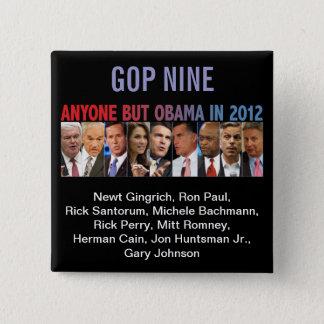 Primärval för GOP nio - 2012 republikanskt Standard Kanpp Fyrkantig 5.1 Cm