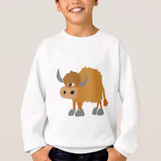 Primitiv konstdesign för roliga Yak Tee Shirts
