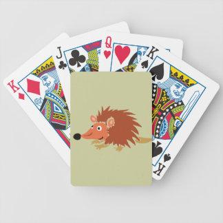 Primitiv konsttecknad för rolig igelkott XA Spelkort