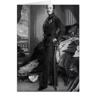 Prince Albert, efter målningen av 1859 Hälsningskort