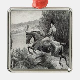 Prince Albert som jagar nära det Belvoir slottet Julgransprydnad Metall