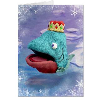 Prince av havskortet hälsningskort