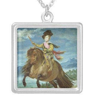 Prince Balthasar Carlos på hästryggen, c.1635-36 Silverpläterat Halsband