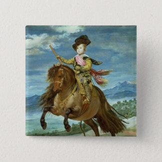 Prince Balthasar Carlos på hästryggen, c.1635-36 Standard Kanpp Fyrkantig 5.1 Cm