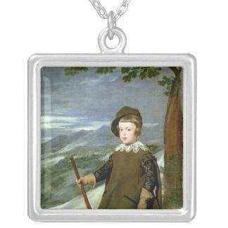Prince Balthasar Carlos Silverpläterat Halsband