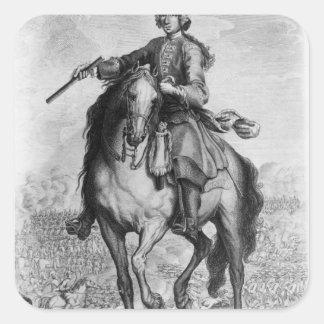 Prince Charles Edward Stuart på striden Fyrkantigt Klistermärke