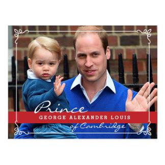 Prince George och Prince William Vykort