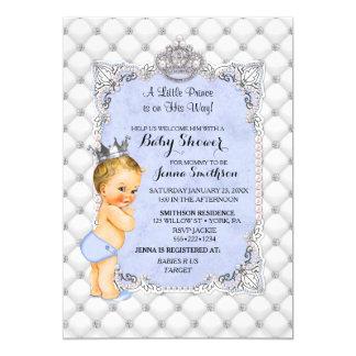 Prince pojke för pärladiamantblondin lite 12,7 x 17,8 cm inbjudningskort