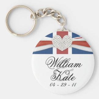 Prince William & Kate - kunglig bröllopsouvenir Rund Nyckelring