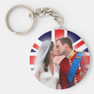Prince William & Kate kungliga gifta sig Keychain Rund Nyckelring