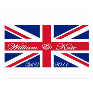 Prince William och Kate Vykort
