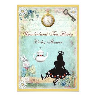 Princess Alice i party för underlandbaby showerTea 12,7 X 17,8 Cm Inbjudningskort