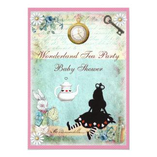 Princess Alice i party för underlandbaby showerTea Personliga Tillkännagivanden