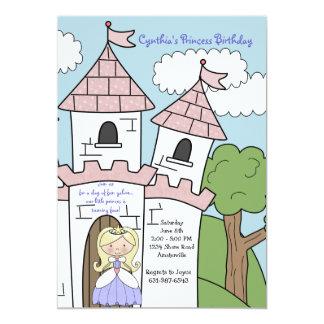 Princess av slottblondininbjudan 12,7 x 17,8 cm inbjudningskort