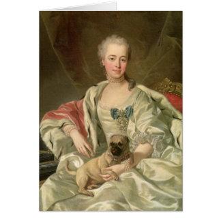 Princess Ekaterina Golitsyna 1759 Hälsningskort