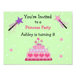 Princess Festa Födelsedag Inbjudan