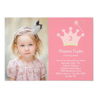 Princess Festa Foto Födelsedag Inbjudan
