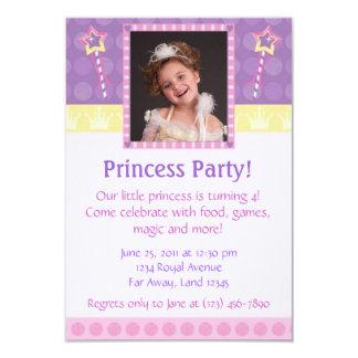Princess Festa Foto Inbjudan