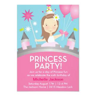 Princess Festa - rosa 12,7 X 17,8 Cm Inbjudningskort