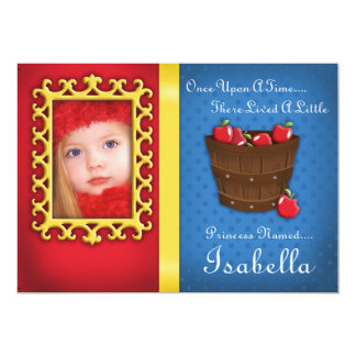 Princess födelsedagsfest 12,7 x 17,8 cm inbjudningskort
