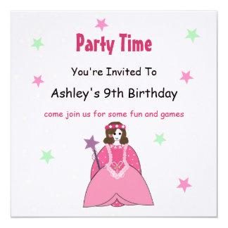 Princess födelsedagsfest inbjudan