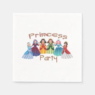 Princess födelsedagsfest servetter